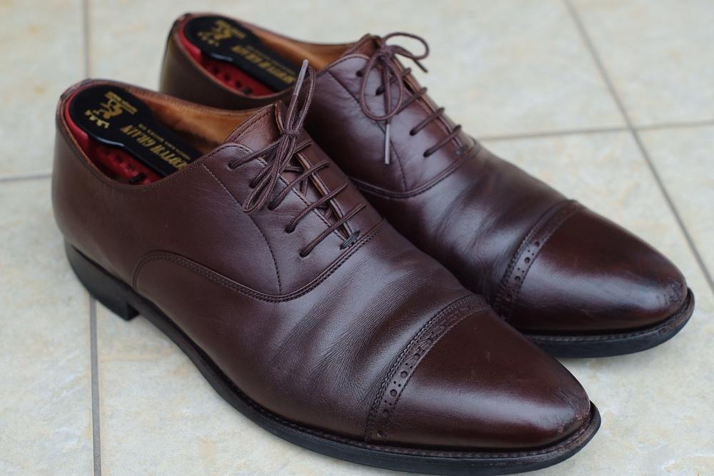 スコッチグレインの革靴を修理に出したので、手順等をご紹介します。(ソール交換など)