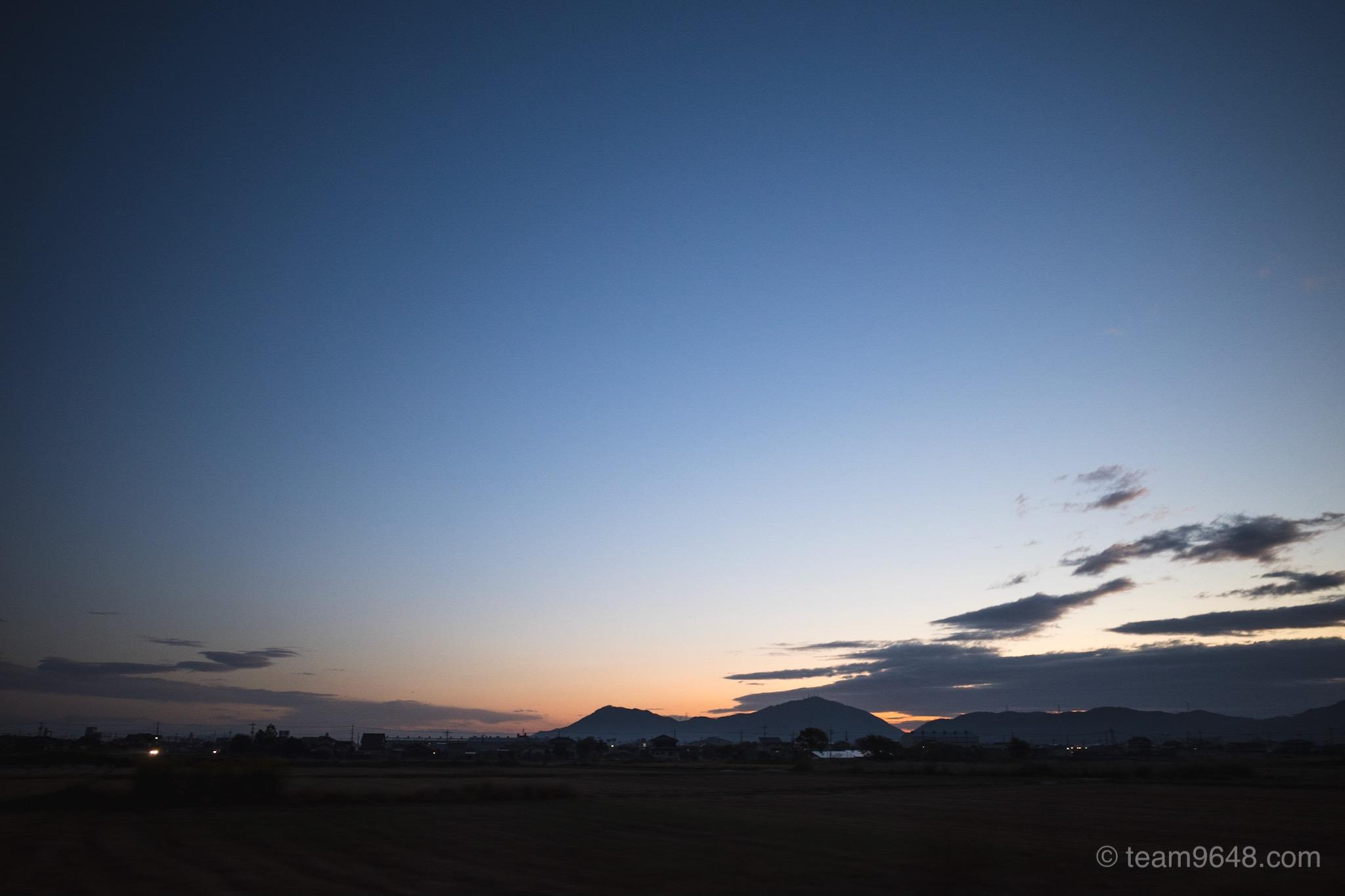 岡山の朝焼け