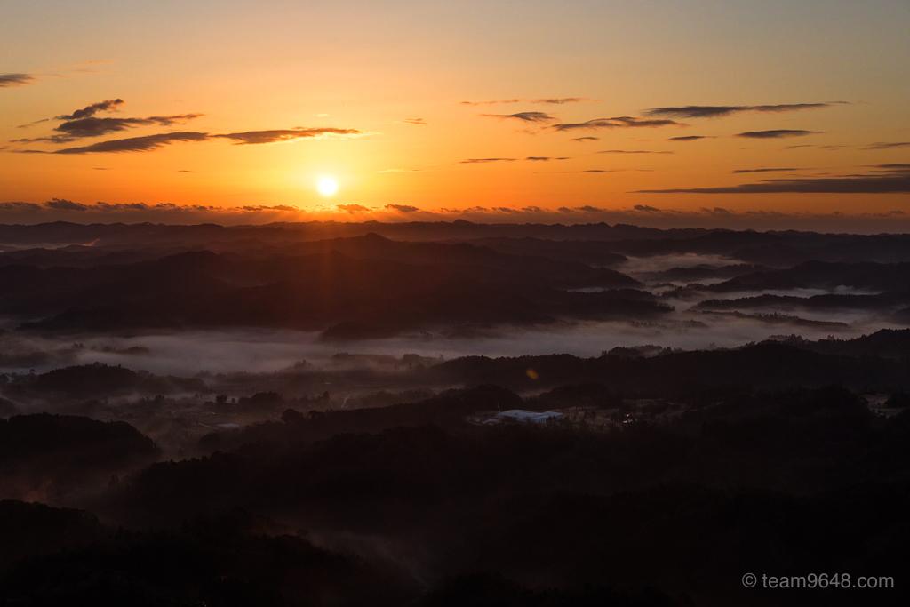 鹿野山 雲海 日の出