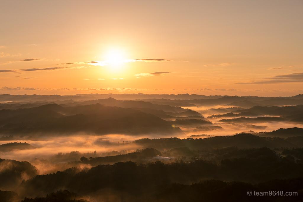 鹿野山九十九谷公園の雲海をやっと見ることができた(千葉県君津市)