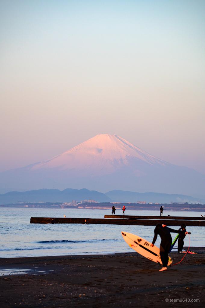 鵠沼海岸 富士山