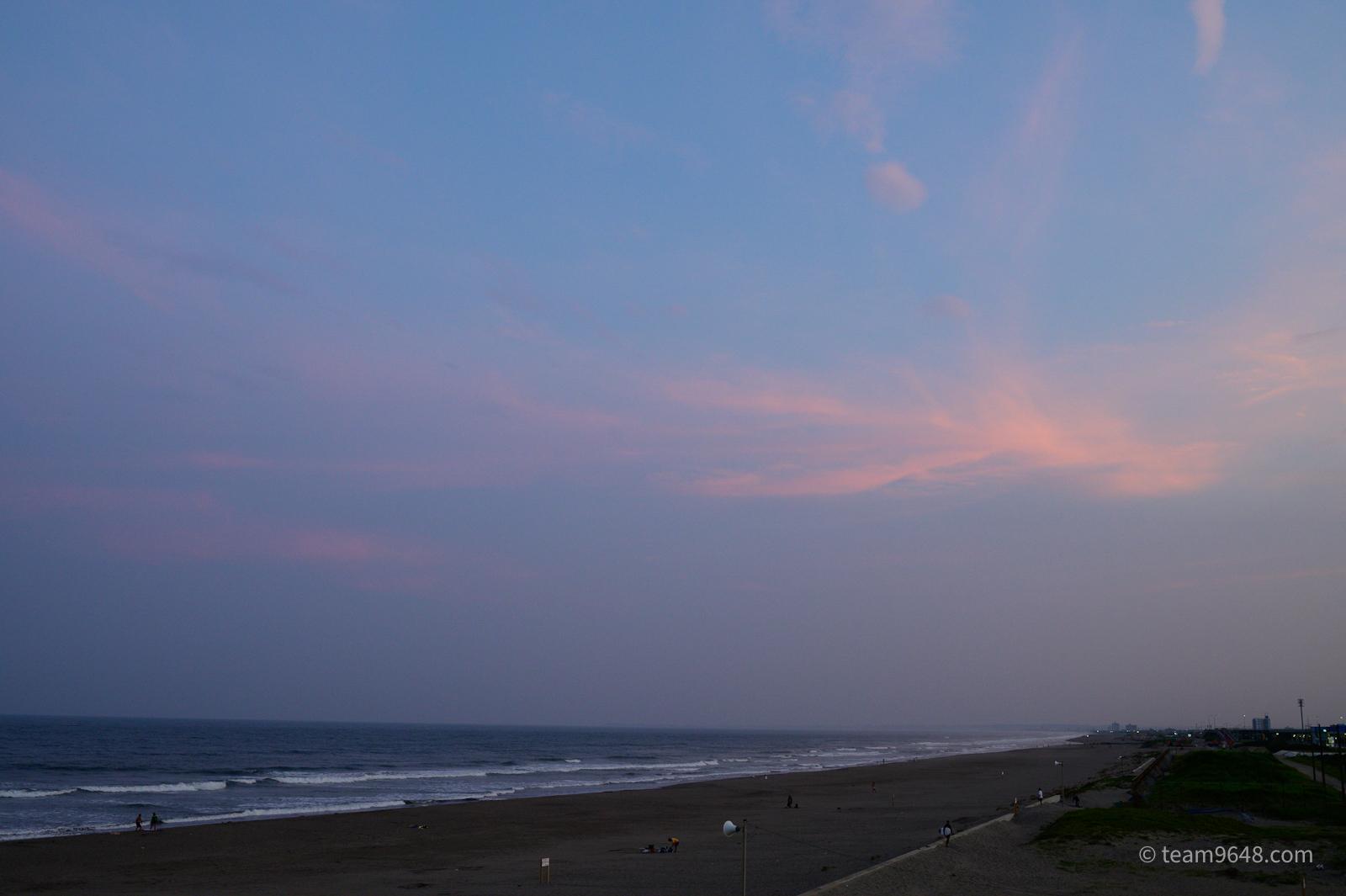 九十九里浜 夕景