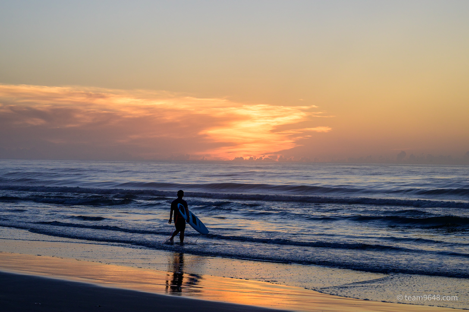 九十九里浜の朝日を見てきた