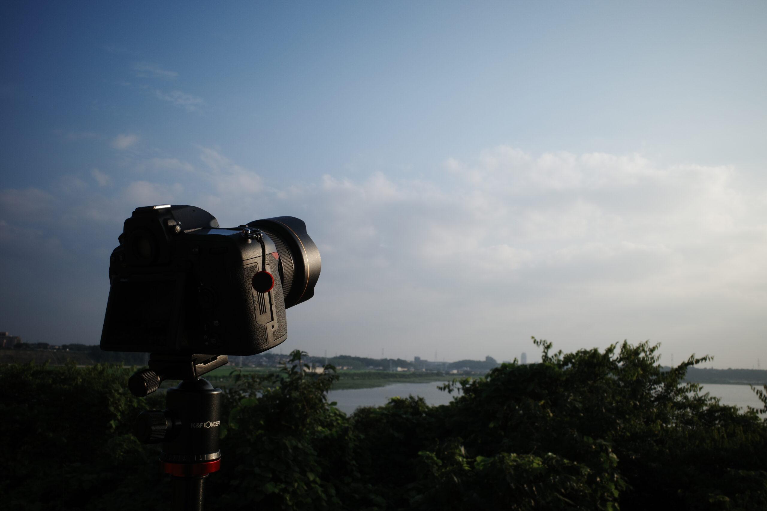 梅雨の中休み、夕焼けと星空のタイムラプスを撮りたかった